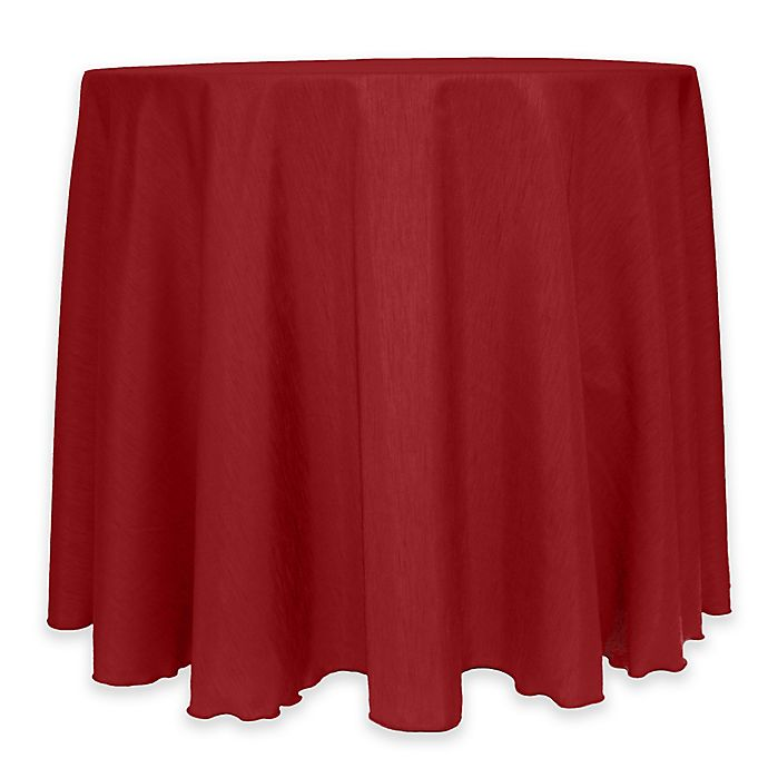 Alternate image 1 for Majestic 60-Inch Round Reversible Shantung Satin Tablecloth in Cherry Red