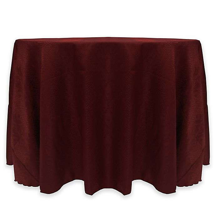 Alternate image 1 for Kenya Damask 60-Inch Tablecloth in Red