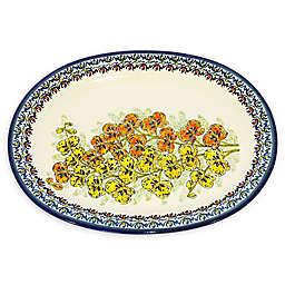 Pottery Avenue Polish Orchid Dinner Platter