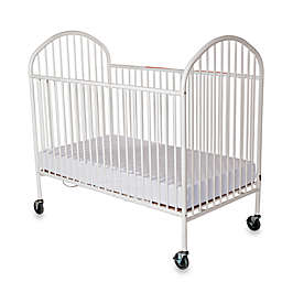 Foundations® Pinnacle™ Full-Size Steel Folding Crib in White