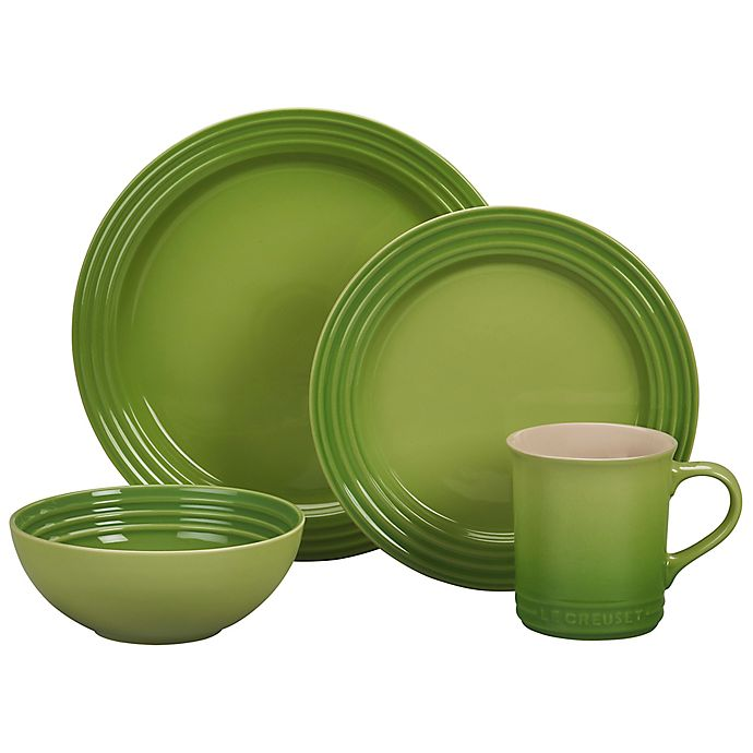 Alternate image 1 for Le Creuset® 16-Piece Dinnerware Set in Palm