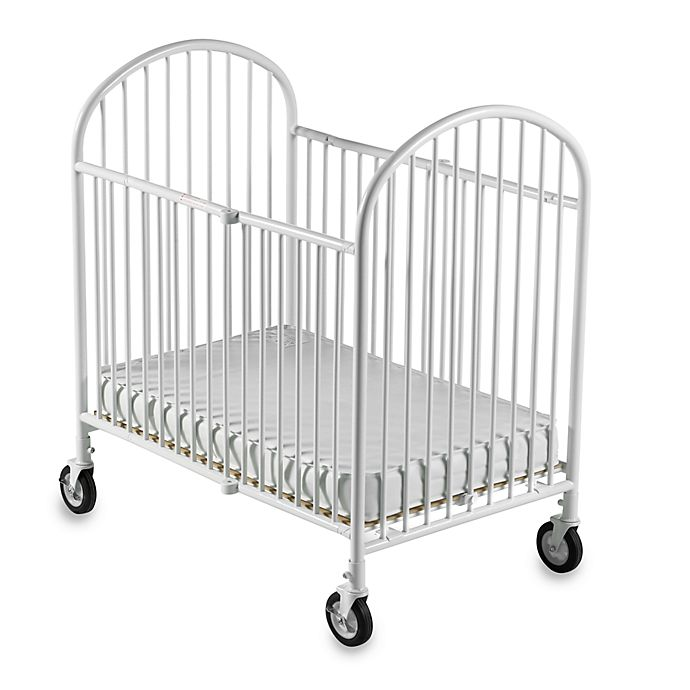 Alternate image 1 for Foundations® Pinnacle™ Compact Steel Folding Crib in White