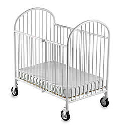 Foundations® Pinnacle™ Compact Steel Folding Crib in White