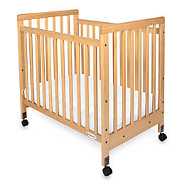 Foundations® SafetyCraft® Compact Fixed-Side Slatted Crib in Natural