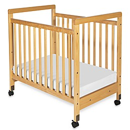 Foundations® SafetyCraft® Compact Fixed-Side Clearview Crib in Natural