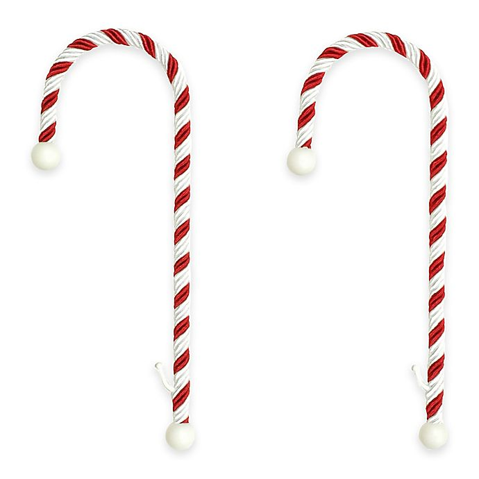Alternate image 1 for Candy Cane Stocking Holders (Set of 2)