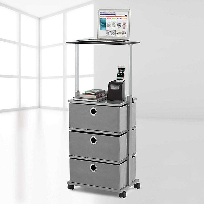 Alternate image 1 for Studio 3B™ 3-Drawer Adjustable-Top Storage Cart