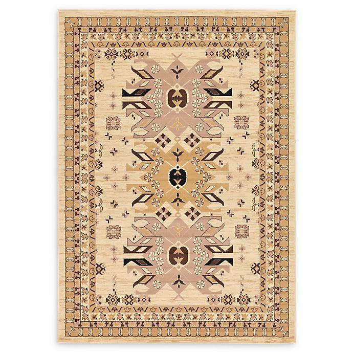 Alternate image 1 for Unique Loom Oasis Heriz 7' X 10' Powerloomed Area Rug in Ivory