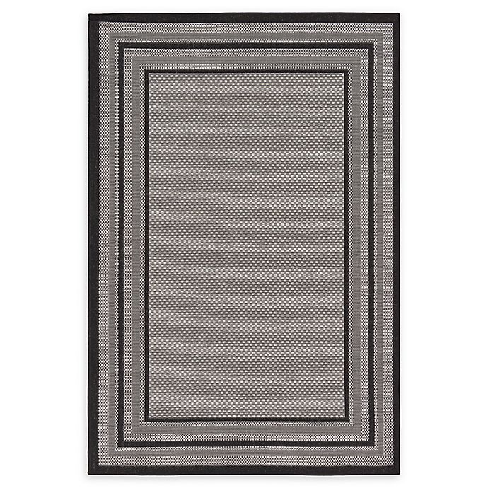 Alternate image 1 for Unique Loom Multi Border Powerloomed Indoor/Outdoor Rug in Grey