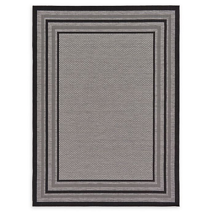 Alternate image 1 for Unique Loom Multi Border Outdoor 7' X 10' Powerloomed Area Rug in Gray