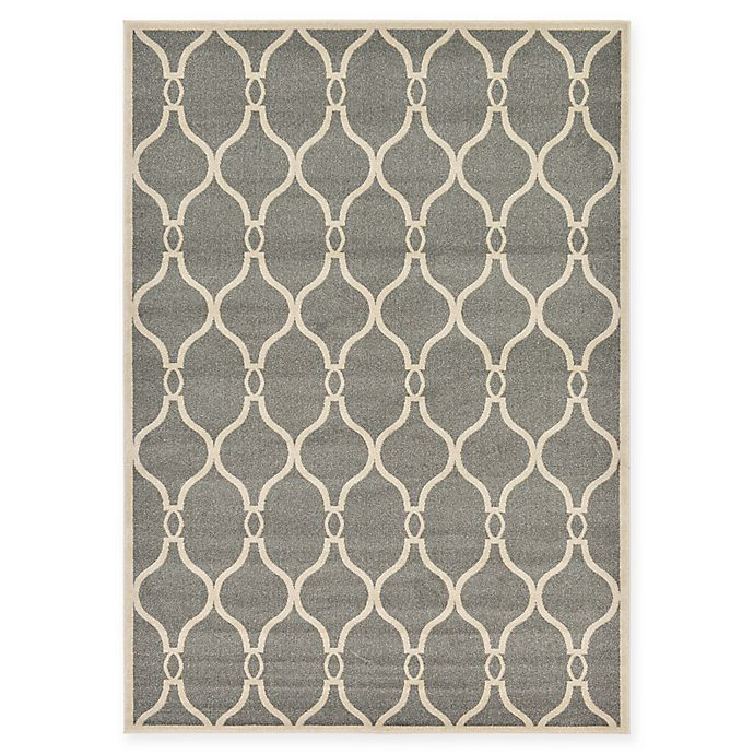 Alternate image 1 for Unique Loom Seattle Trellis 7' X 10' Powerloomed Area Rug in Gray