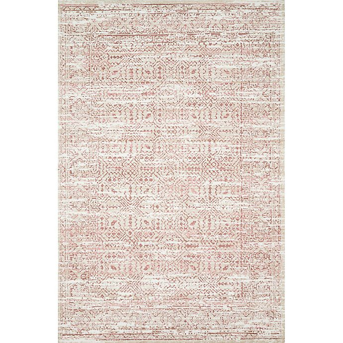Alternate image 1 for Magnolia Home by Joanna Gaines Knotted 9'3 x 13' Area Rug in Ivory/Blush