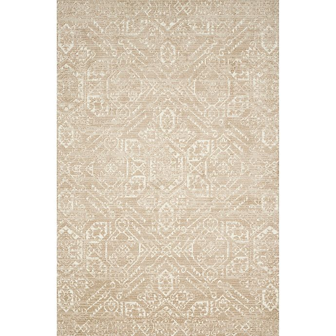 Alternate image 1 for Magnolia Home by Joana Gaines Damask 9'3 x 13' Area Rug in Sand/Ivory