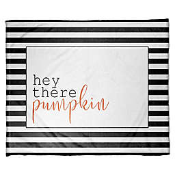 Designs Direct Halloween Hey There Pumpkin Stripes Fleece Throw Blanket