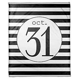 Designs Direct Halloween October 31st Stripes Fleece Throw Blanket