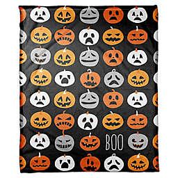 Designs Direct Boo Pumpkin Pattern Fleece Throw Blanket