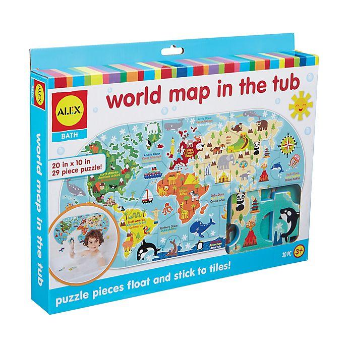 ALEX Toys ALEX Bath World Map in the Tub 29-Piece Foam Puzzle ...