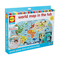 ALEX Toys ALEX Bath World Map in the Tub 29-Piece Foam Puzzle