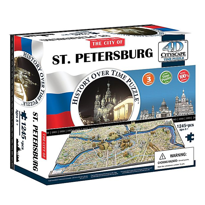 Alternate image 1 for 4D Cityscape 1,245-Piece The City of St. Petersburg, Russia Puzzle