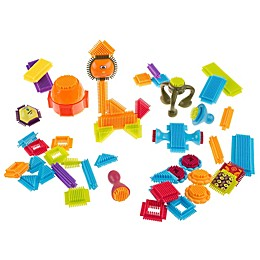 Hey! Play! 50-Piece Bristle Shaped Interlocking Building Block Set
