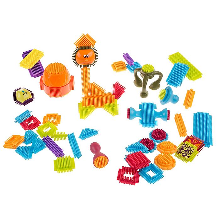 Alternate image 1 for Hey! Play! 50-Piece Bristle Shaped Interlocking Building Block Set