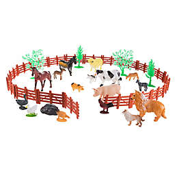 Hey! Play! Farm Animal Figures and Barnyard Set
