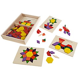 Hey! Play! 125 Wooden Block Kids Tangrams Toy