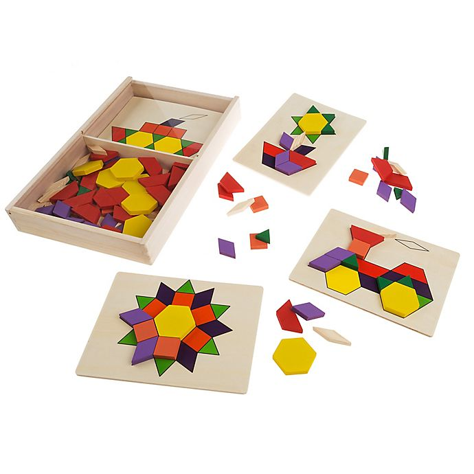 Alternate image 1 for Hey! Play! 125 Wooden Block Kids Tangrams Toy