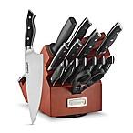 Cuisinart® Triple Rivet 15-Piece Rotating Knife Block Set in Acacia