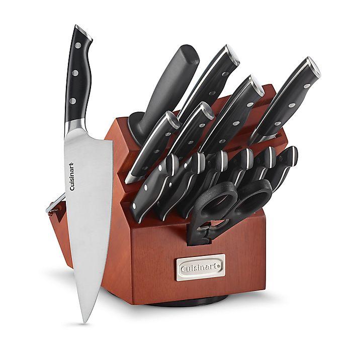 Alternate image 1 for Cuisinart® Triple Rivet 15-Piece Rotating Knife Block Set in Acacia