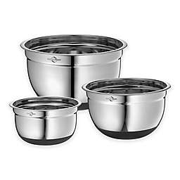 Keuchenprofi 3-Piece Non-Slip Stainless Steel Mixing Bowl Set