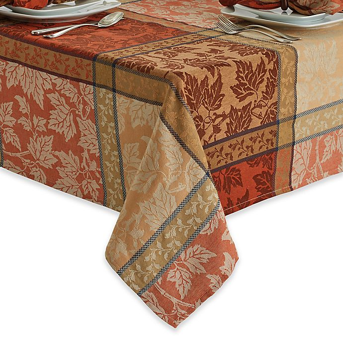 Alternate image 1 for Montvale 60-Inch x 120-Inch Oblong Tablecloth in Terracotta