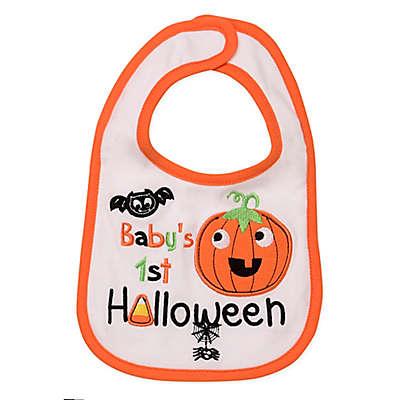 "Baby Starters® ""Baby's First Halloween"" Bib in White"
