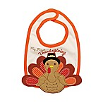 """Baby Starters® """"Baby's First Thanksgiving"""" Bib in White"""
