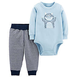 carter's® 2-Piece Mom's Little Monster Bodysuit and Pant Set in Blue