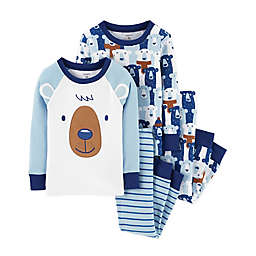 carter's® 4-Piece Bear Snug Fit PJs Set