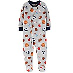 carter's® Size 12M Sports Fleece Pajamas in Grey