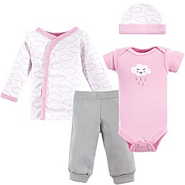 Luvable Friends® Preemie 4-Piece Cloud Layette Set in Pink