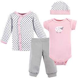 Luvable Friends® Preemie 4-Piece Pink Sheep Layette Set