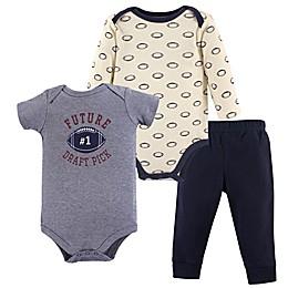 Hudson Baby® 3-Piece Football Bodysuit and Pants Set