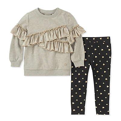 Calvin Klein® 2-Piece Ruffled Top and Pant Set