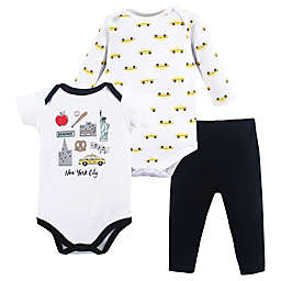 Hudson Baby® Size 18-24M NYC 3-Piece Bodysuit and Pant Set in Black