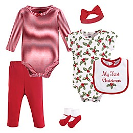 Hudson Baby® 6-Piece Holly Layette Set in Red