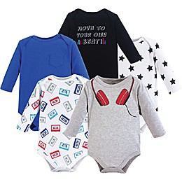 Little Treasure 5-Pack Headphones Bodysuits
