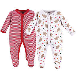 Hudson Baby® 2-Pack Sugar and Spice Sleep and Play Coveralls in Red
