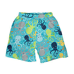 i play.® Octopus Swim Trunks with Built-in Reusable Swim Diaper in Aqua