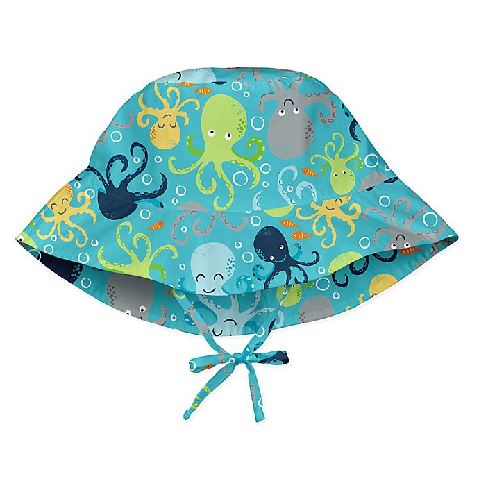 Alternate image 1 for i play.® Octopus Breathable Bucket Sun Protection Hat in Aqua