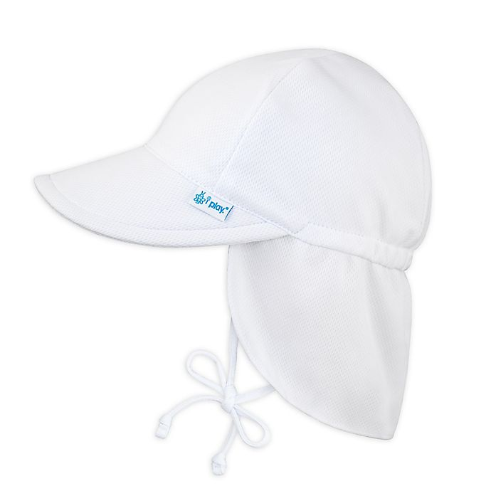 Alternate image 1 for i play.® by green sprouts® Breathable Flap Swim & Sun Hat in White