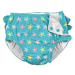 i play.® Starfish Ruffle Snap Swim Diaper in Aqua