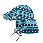 i play.® Infant Nautical Stripe Breathable Flap Sun Protection Hat in Royal Navy
